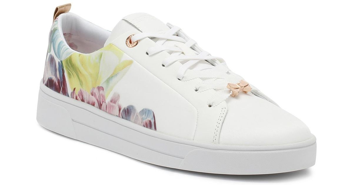 fd9d4c131573bb Lyst - Ted Baker Womens Tranquility White Ahfira 2 Trainers Women s Shoes  (trainers) In White in White