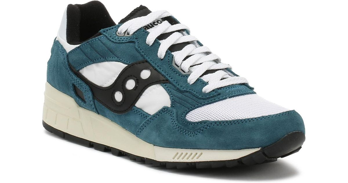 aed77dec Saucony Mens Teal / White / Black Shadow 5000 Vintage Trainers in Blue for  Men - Lyst