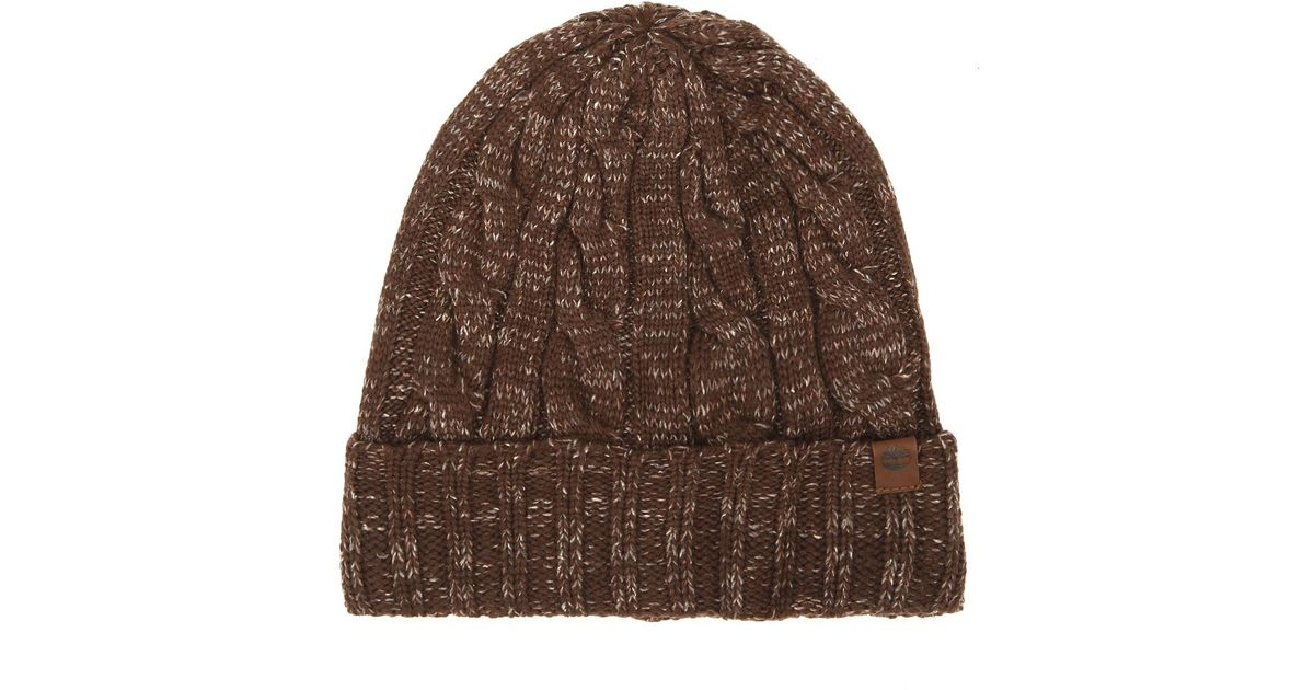 3099cae6 Timberland Mens Brown Ribbed Fisherman Beanie in Brown for Men - Lyst