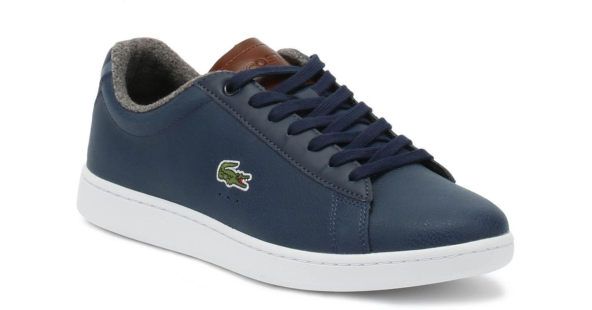 095e13725c1a Lacoste Carnaby Evo 318 2 Mens Navy   Brown Trainers in Blue for Men - Lyst