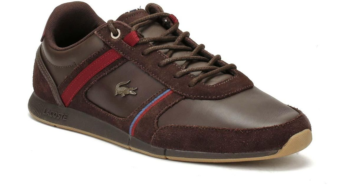 2cee97946 Lacoste Mens Dark Brown Menerva 118 1 Trainers in Brown for Men - Lyst