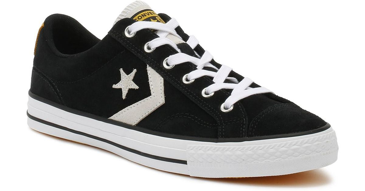 8df4650b9f15 Lyst - Converse Mens Black   White Star Player Suede Ox Trainers in Black  for Men