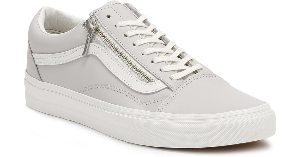 40af72008926 Lyst - Vans Womens Wind Chime Grey Old Skool Zip Trainers in Gray