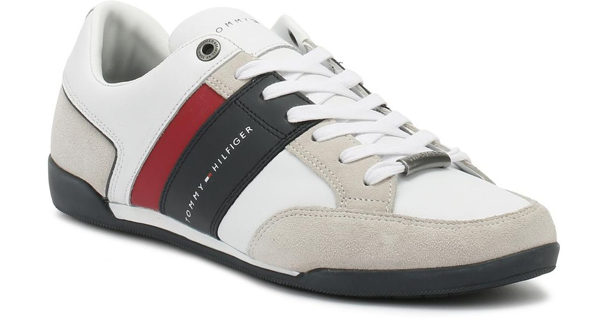 ad50e9a0beb21 Lyst - Tommy Hilfiger Mens White Corporate Cupsole Trainers in White for Men