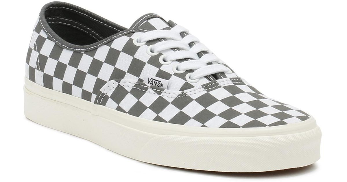 2d6471785a Lyst - Vans Checkerboard Authentic Shoes in Gray for Men - Save 22%