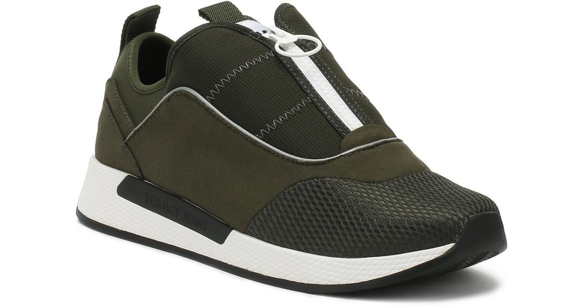 9f713ed2d06a49 Lyst - Tommy Hilfiger Mens Forest Night Green Icon Sport Flexi Trainers in  Green for Men
