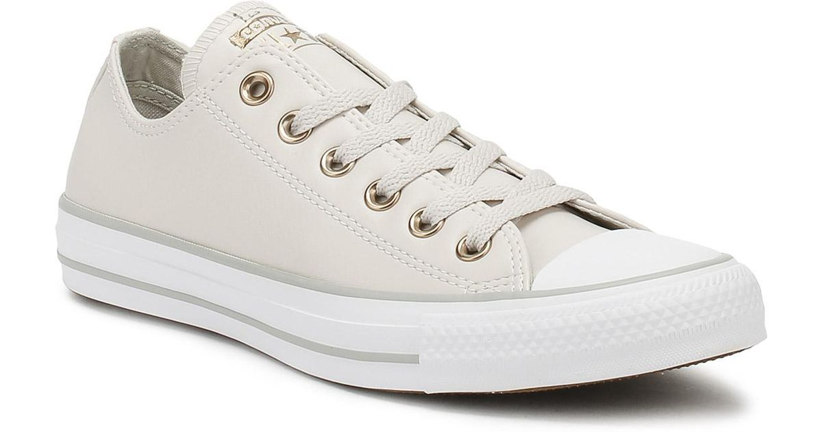 Converse Chuck Taylor All Star Womens Pale Putty Yellow Ox Trainers