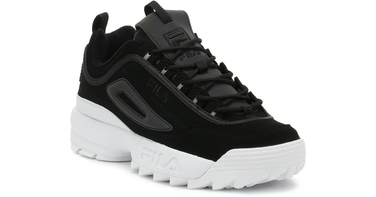 Lyst - Fila Disruptor Ii Premium Phaseshift Split Black Womens ... 0f83d2fa1
