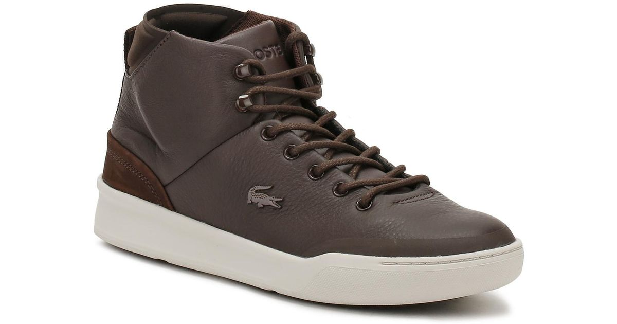 9a7fe1097 Lacoste Mens Dark Brown Explorateur Classic 317 1 Trainers in Brown for Men  - Lyst