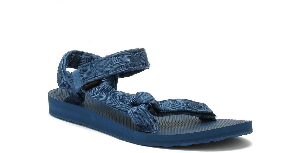 dee34d01f Lyst - Teva Womens Textured Legion Blue Original Universal Sandals in Blue