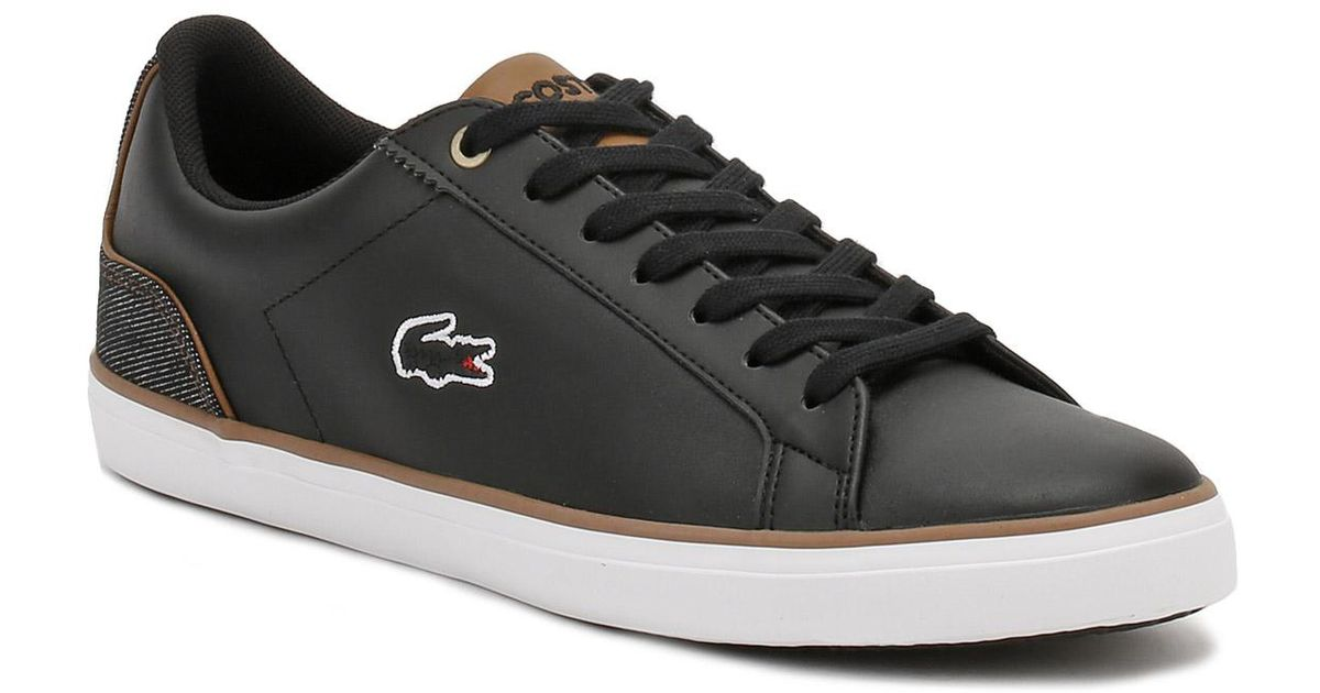 dde34bdb37a9b7 Lacoste Mens Black   Brown Lerond 317 3 Trainers in Black for Men - Lyst