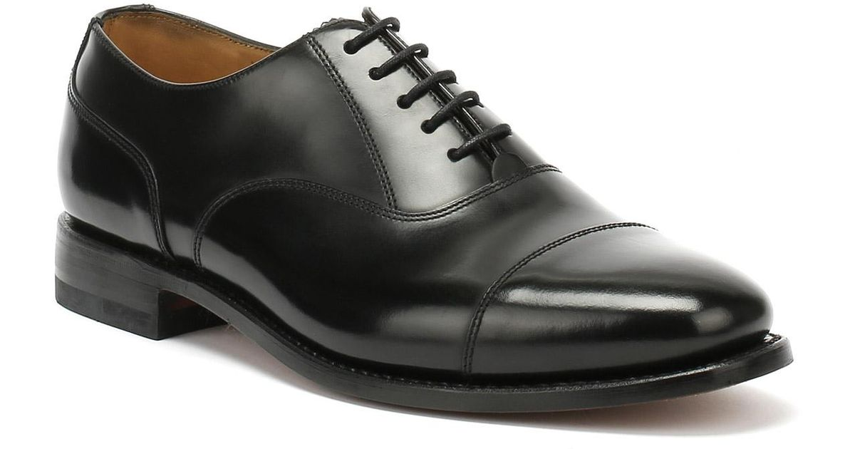 306c290e Loake 200b Polished Leather Black Dress Shoes in Black for Men - Lyst