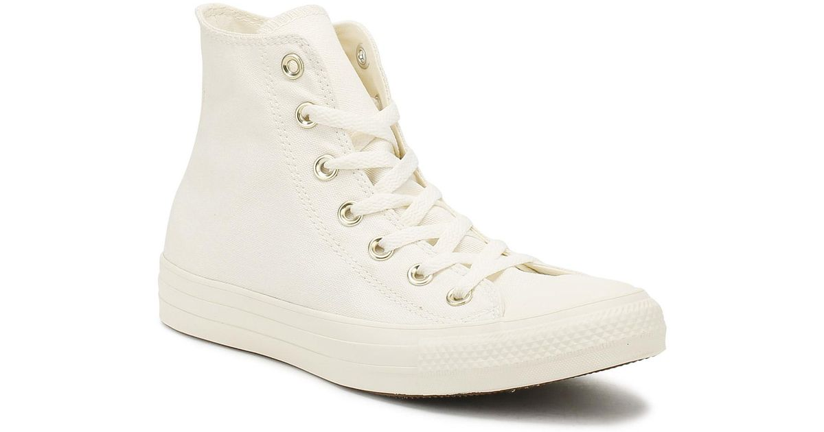 converse hi canvas egret gold