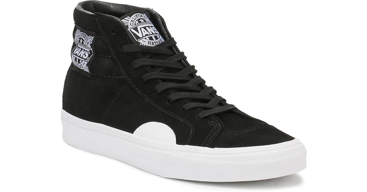 d86f71c0c4 Lyst - Vans Mens Black   White Native Suede Style 238 Trainers in Black for  Men