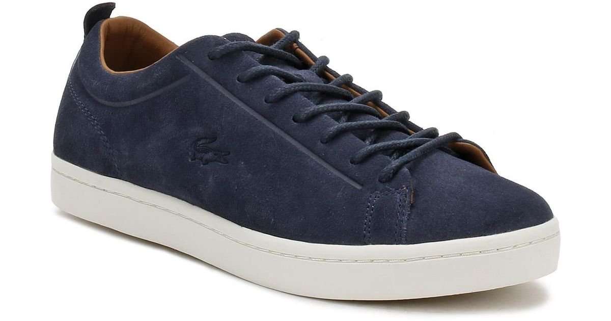 cd295e32d3eec Lyst - Lacoste Mens Navy Straightset 317 3 Trainers in Blue for Men - Save  15%