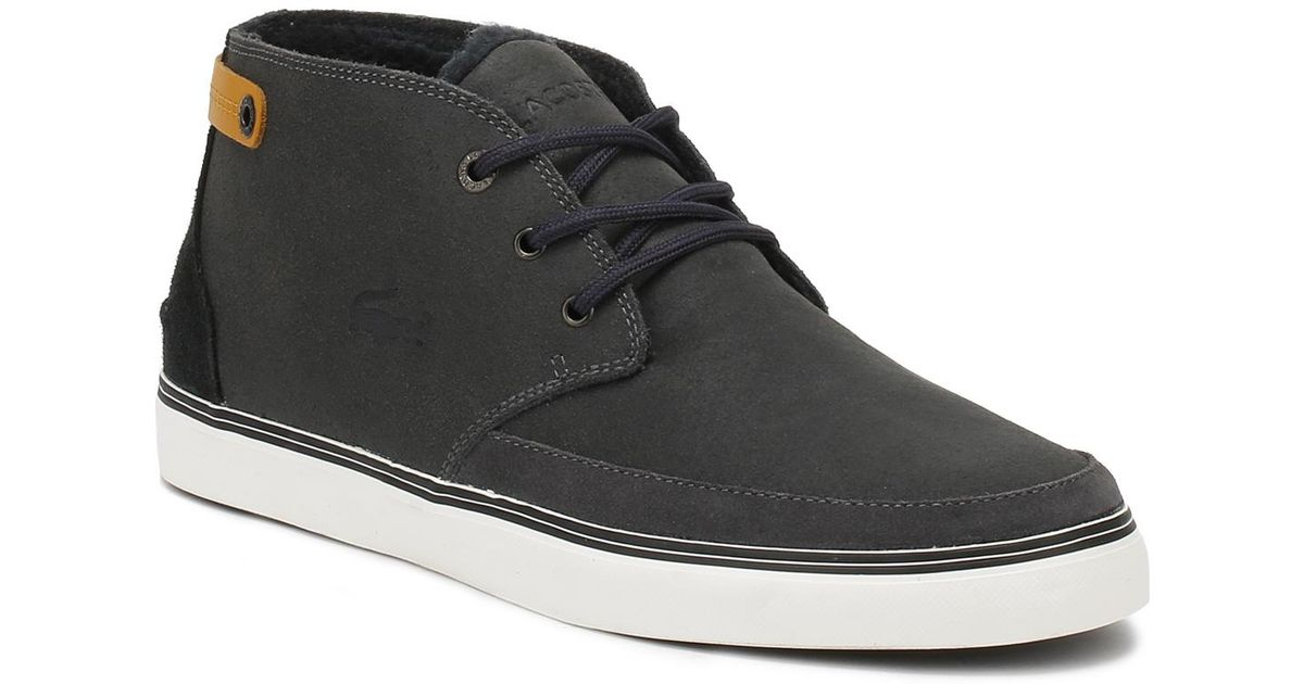 755c635c808336 Lacoste Mens Dark Blue Clavel 17 Suede Trainers in Blue for Men - Lyst