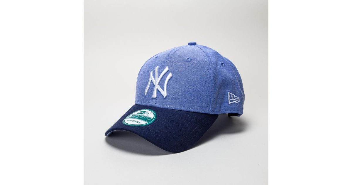 5b8b0553 KTZ New Era Chambray Crown Ny Yankees Lry-navy Hats in Blue for Men - Lyst