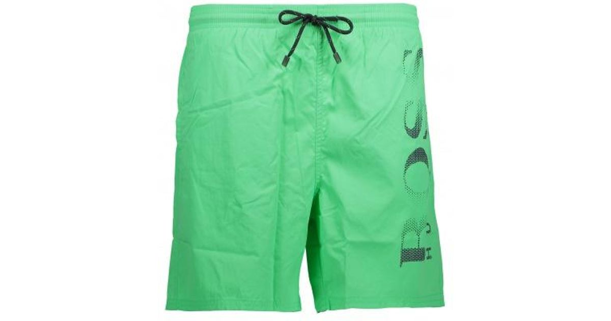 a68a7dfdf BOSS Octopus Shorts in Green for Men - Lyst