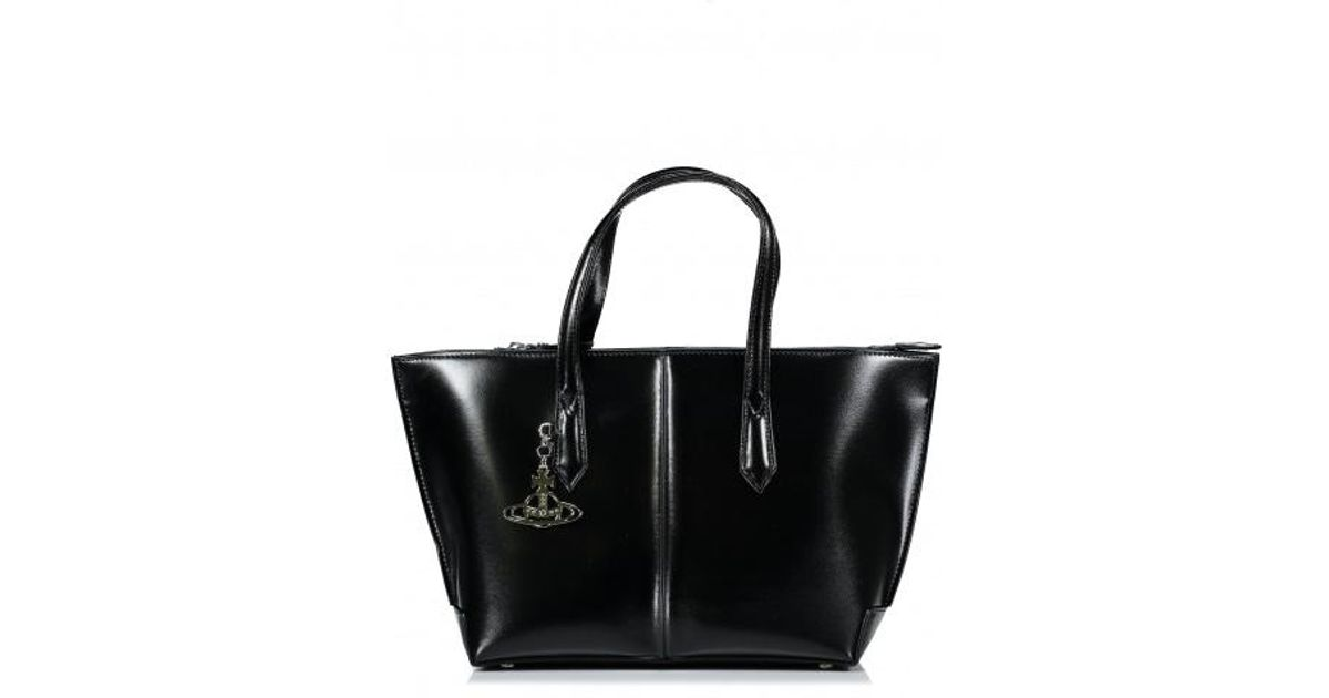 b36e01c5d86 Vivienne Westwood Sarah Large Shopper Bag in Black - Save 10% - Lyst