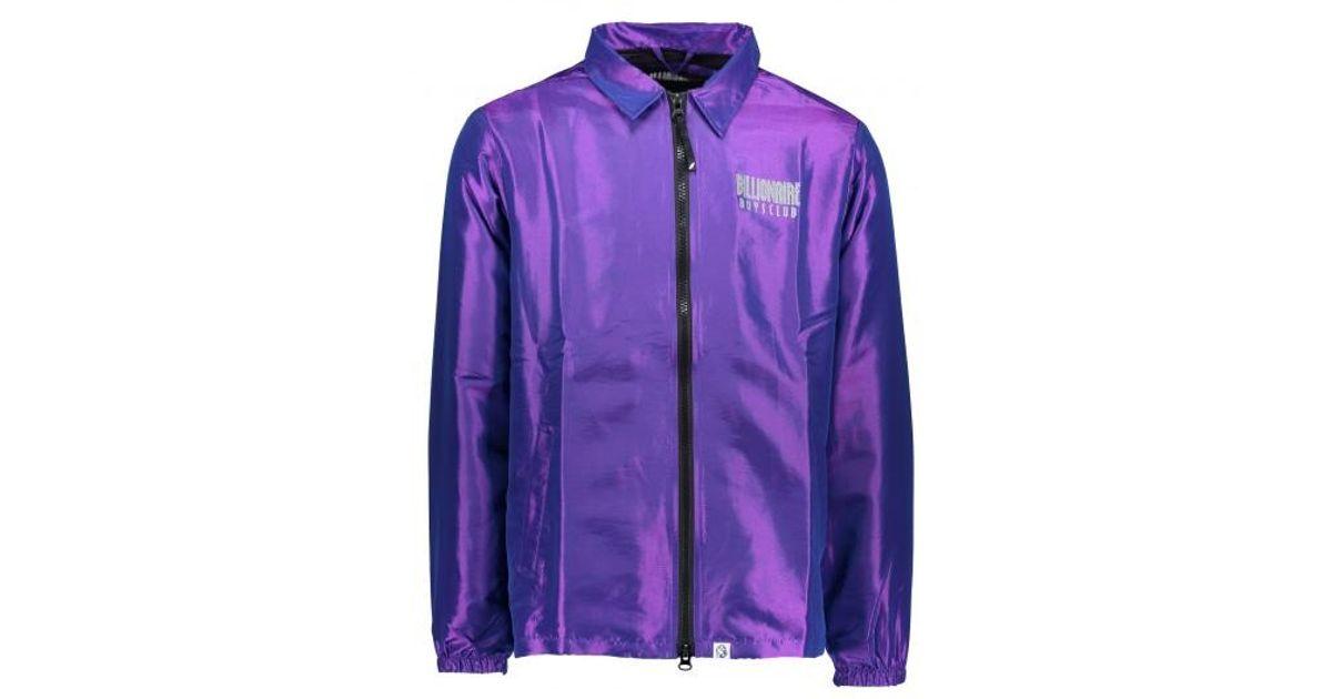 9c88dc9ea310 Lyst - BBCICECREAM Iridescent Zip Jacket in Purple for Men