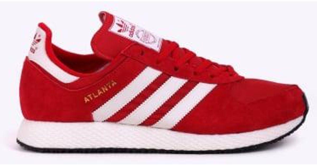 low priced 81d2f e71f7 Adidas Originals Atlanta Spzl in Red for Men - Lyst
