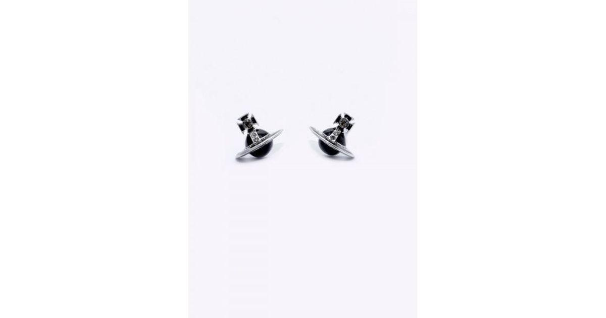cb39340f3 Vivienne Westwood Iona Stud Earrings in Metallic - Lyst