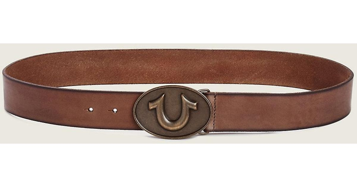 cf92cc22c True Religion Horseshoe Buckle Belt in Brown for Men - Lyst