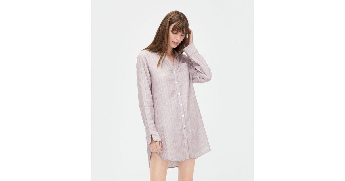 d643316e0c Lyst - Ugg Women s Vivian Stripe Sleep Shirt