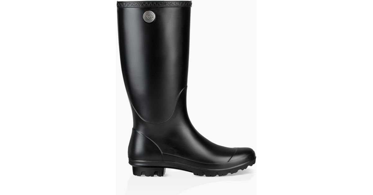 856a46ff2452 Lyst - UGG Shelby Matte Rain Boots in Black
