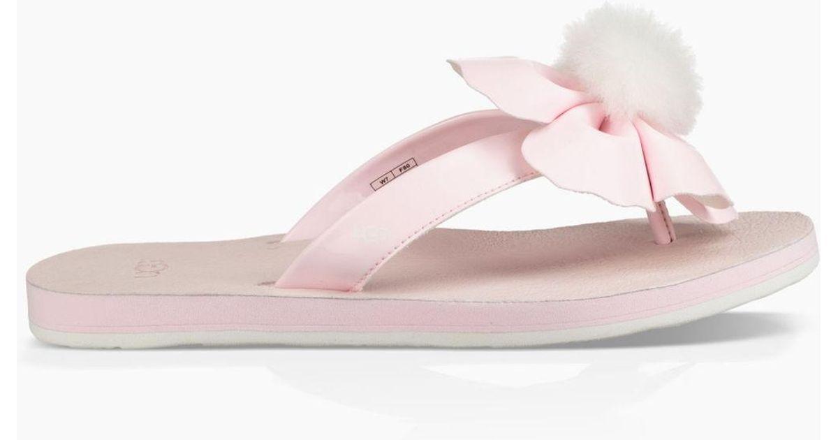 4cb6ead8a01 Ugg Pink Poppy Flip Flop Poppy Flip Flop