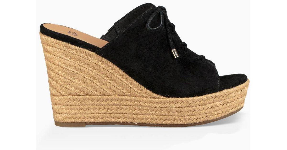 Giorgia Suede Espadrille Peep-Toe Wedge Sandals