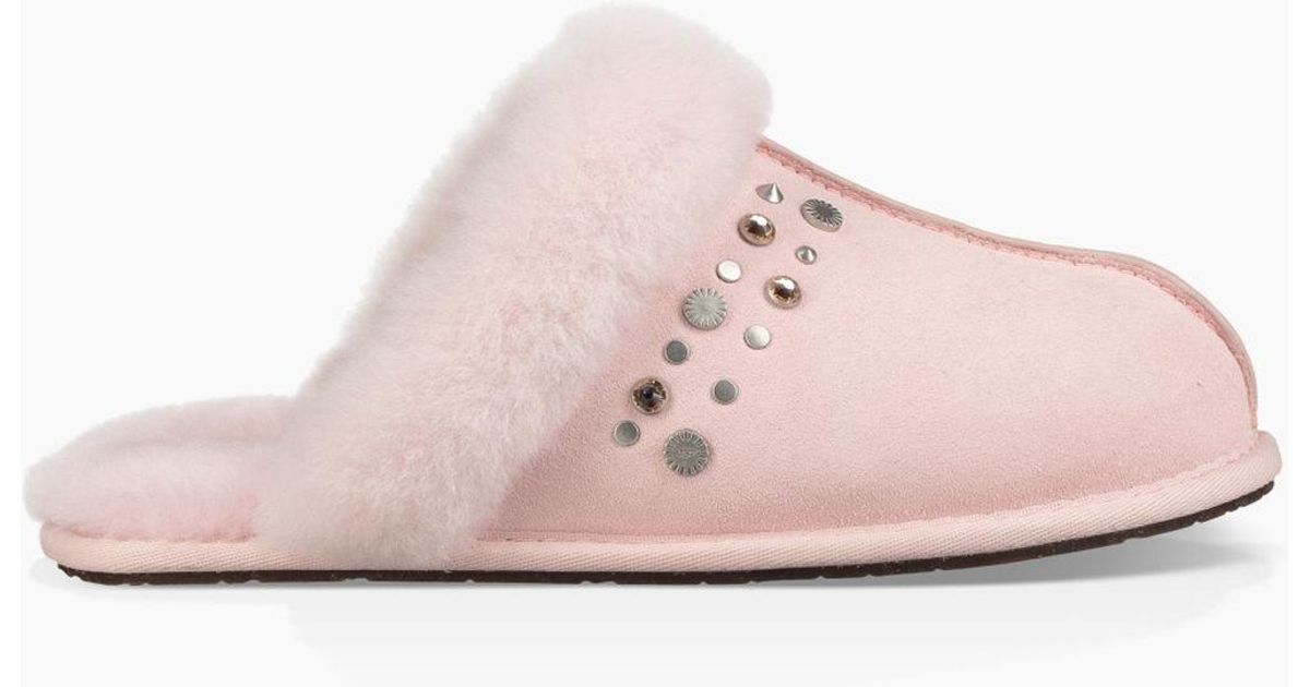 6873e95f0910 UGG Women s Scuffette Ii Studded Bling in Pink - Lyst