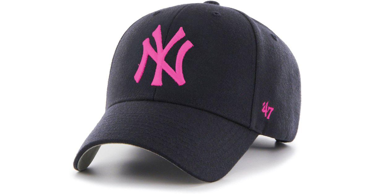 0b8701a9d25 47 Brand Mlb New York Yankees  47 Mvp Adjustable Velcro Strap Baseball Cap  - Lyst