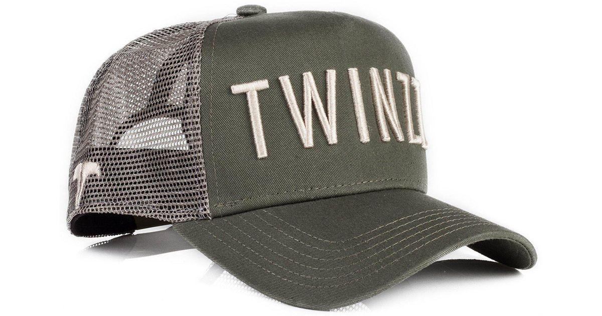 68aaf7bfe92 Twinzz 3d Mesh Trucker Adjustable Baseball Cap in Green for Men - Lyst