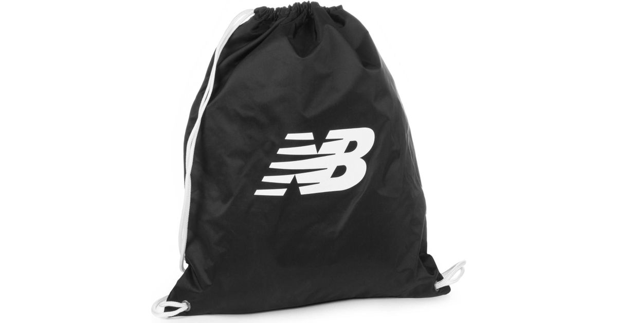 c900f3dfd87 New Balance Cinch Drawstring Gym Bag in Black - Lyst