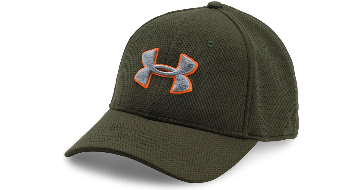 38a070bddd27 Under Armour Men's Ua Blitzing Ii Stretch Fit Cap in Green for Men - Lyst