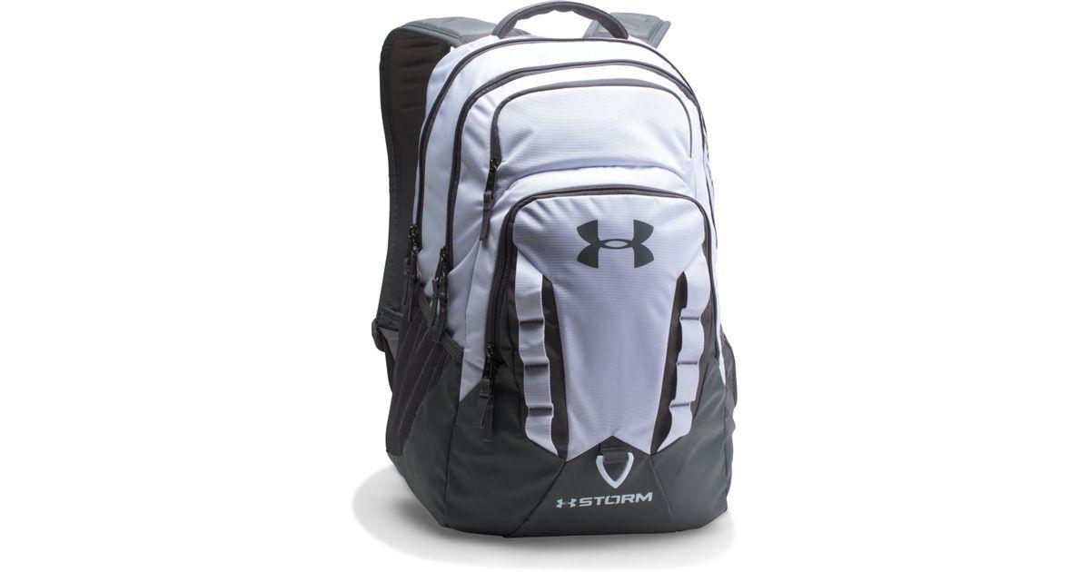 b218dc7634 Under Armour Storm Recruit Backpack White - Motorslist