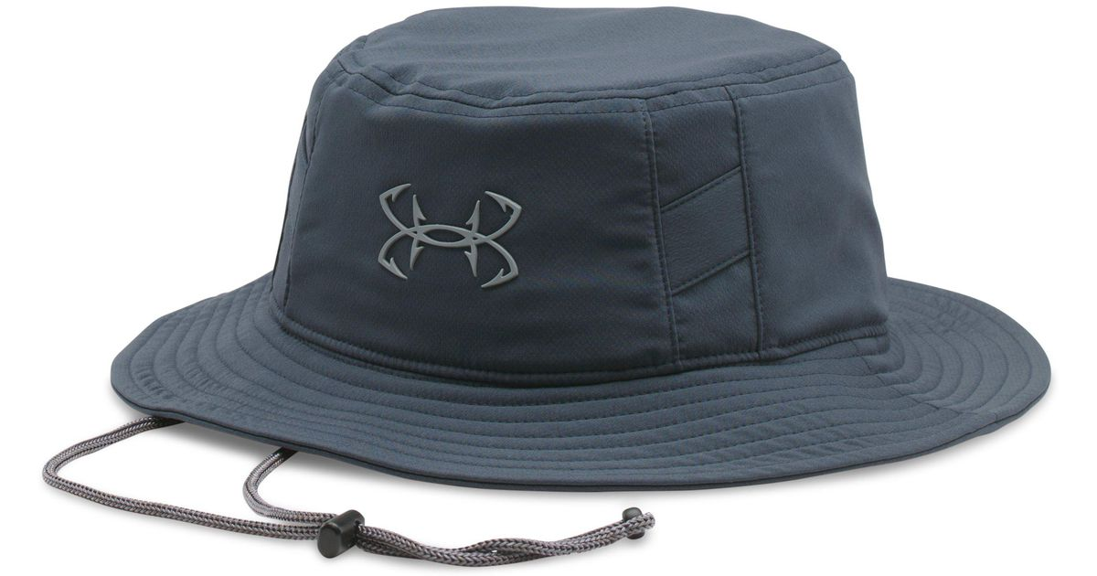 5defea0051d Lyst - Under Armour Men s Ua Fish Hook Bucket Hat in Blue for Men