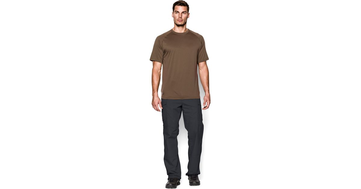 Under armour men s ua tactical tech short sleeve t shirt for Under armour brown t shirt