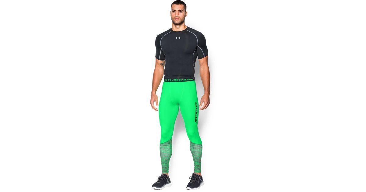 847efe8d31 Lyst - Under Armour Men's Ua Heatgear® Armour Twist Flight Compression  Leggings in Green for Men