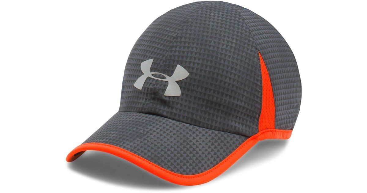 Lyst - Under Armour Men s Ua Shadow 4.0 Run Cap in Gray for Men 1e5b9b3e6920