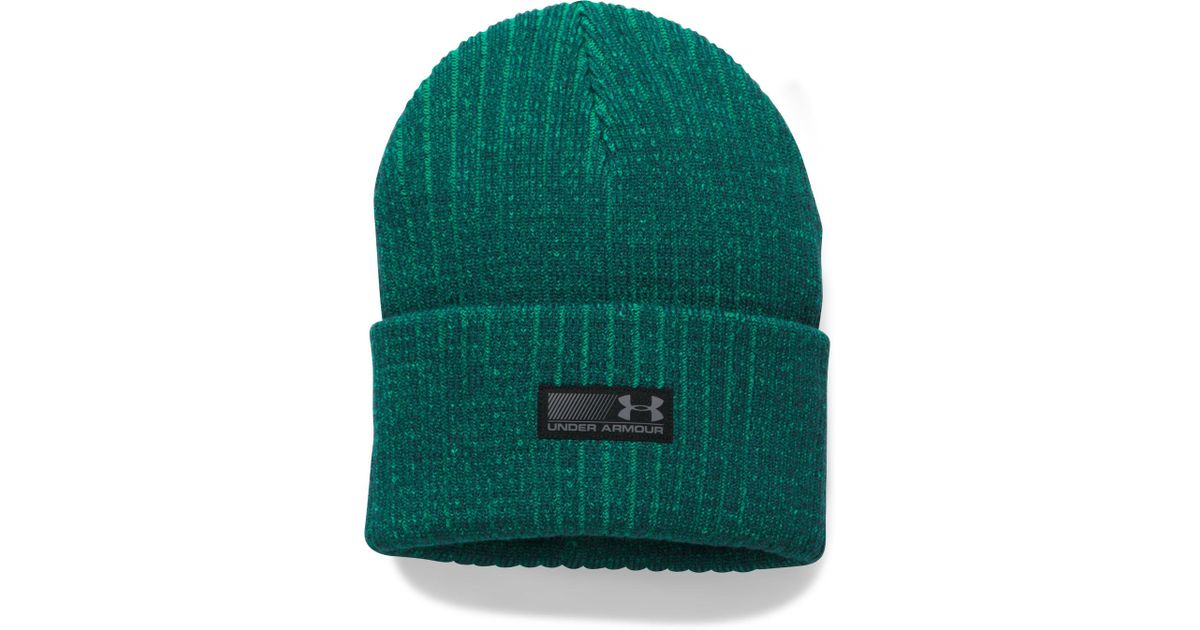 9361b4a40b6ada Lyst - Under Armour Men's Ua Truck Stop Beanie in Green for Men