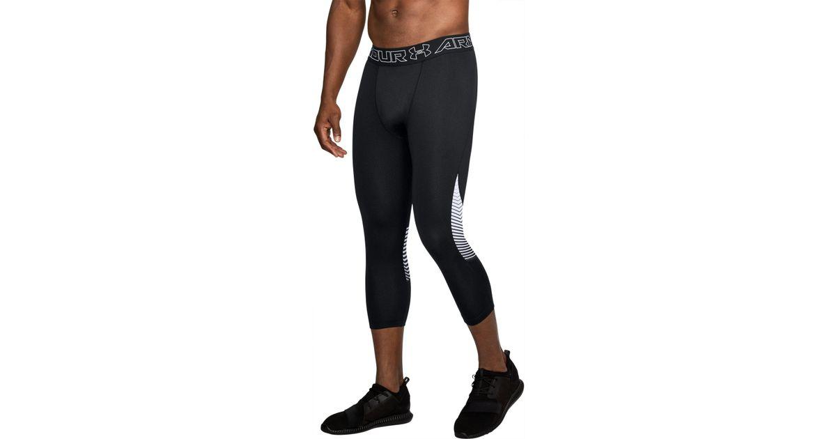 4e1eadedd84840 Under Armour Men's Coldgear® Reactor 3⁄4 Leggings in Black for Men - Lyst