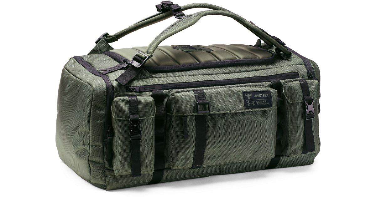 Lyst - Under Armour Ua X Project Rock Usdna Range Duffle in Green for Men b251e2fe673d9