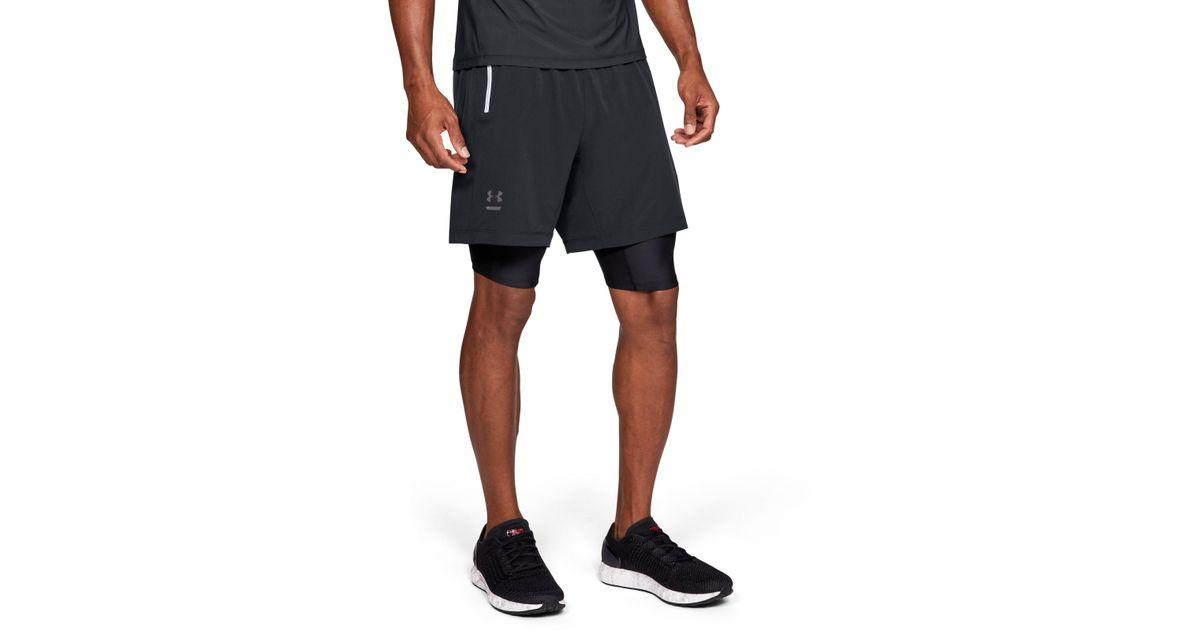 2ada272a85eea Under Armour Men's Ua Double Run 2-in-1 Shorts in Black for Men - Lyst