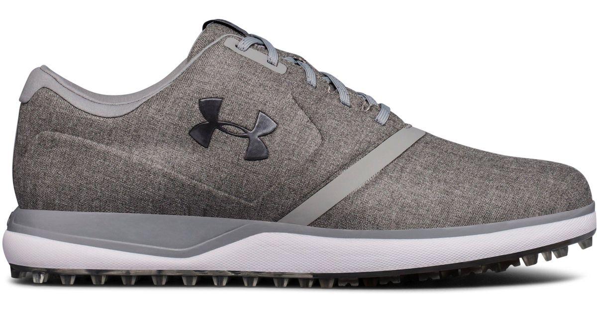 aaaea7135c4d6e Under Armour Men's Ua Performance Sl Sunbrella® Spikeless Golf Shoes in Gray  for Men - Lyst