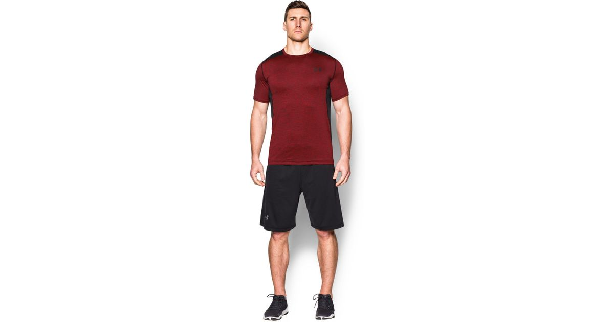 80ce49d7 Under Armour Men's Ua Raid Short Sleeve T-shirt in Red for Men - Lyst