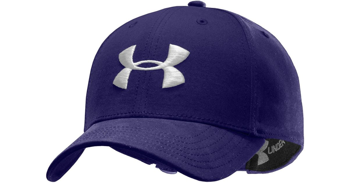 Lyst - Under Armour Men s Ua Washed Cotton Cap in Blue for Men a21187f6c7a7