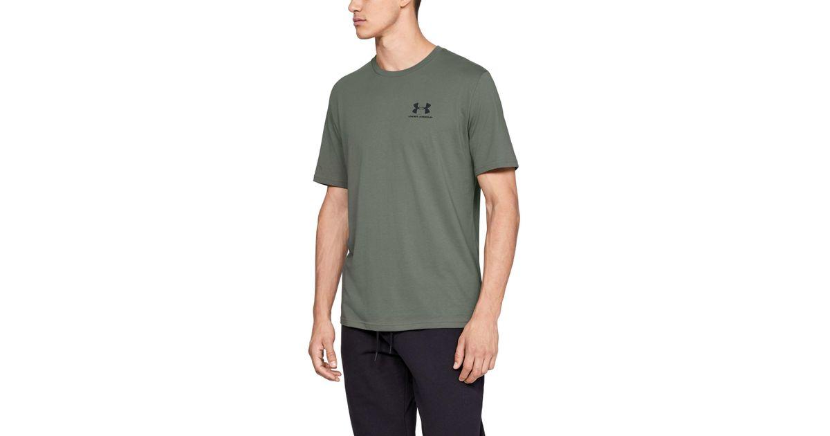 fab6c4935e Under Armour - Green Men's Ua Sportstyle Left Chest Short Sleeve Shirt for  Men - Lyst