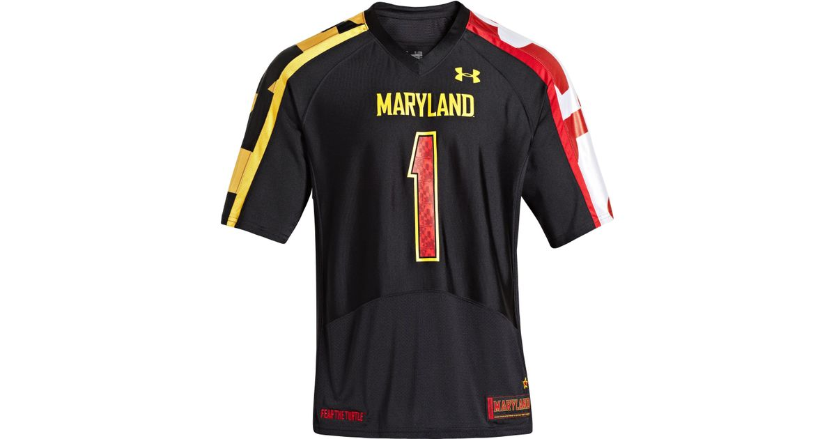 Lyst - Under Armour Men s Ua Maryland Pride Replica Jersey in Black for Men 19417dd04